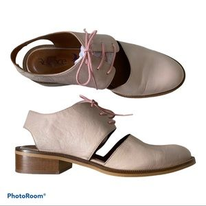 Blush Leather Oxford with cutouts by Relance